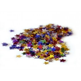 Confetti étoiles multicolores