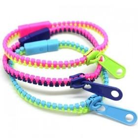 Bracelet zipper coloré