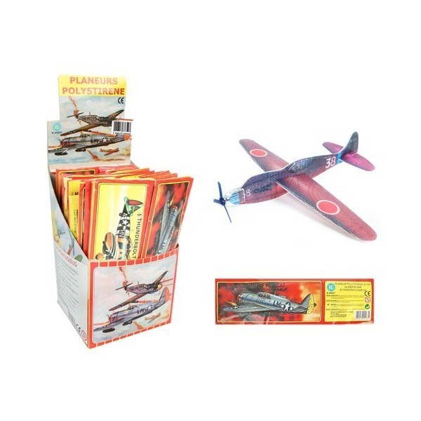 12 avions styrol planeur