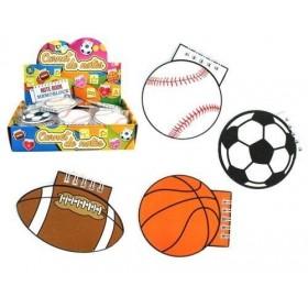 12 carnets ballon sport