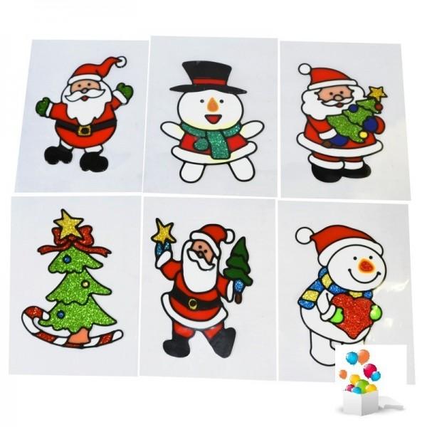 6 Vitrostatique de Noël