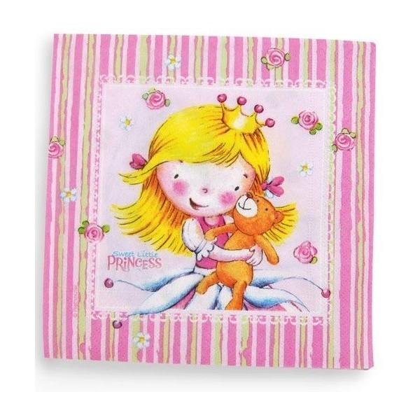 20 Serviettes Sweet Little Princess