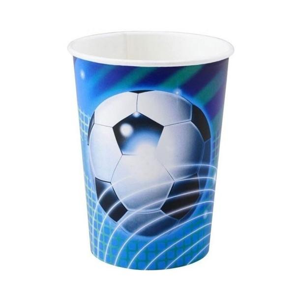 8 gobelets Football bleu