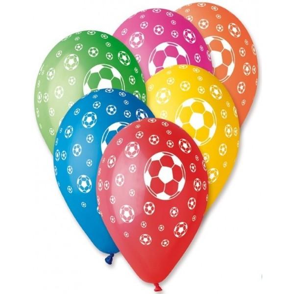 10 Ballons Colorés Football