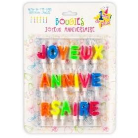 Bougies lettres anniversaires