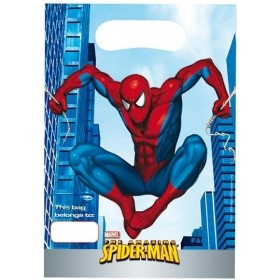 6 sachets de fête Spiderman