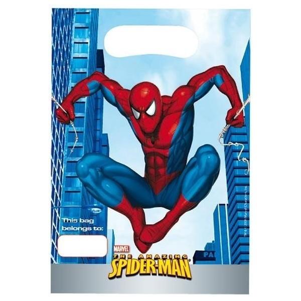 6 sachets de fête Spiderman