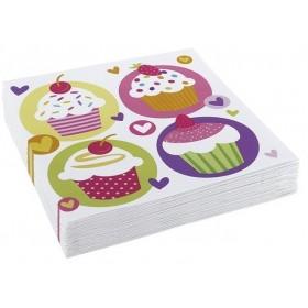6 Sacs de Fête Cupcake