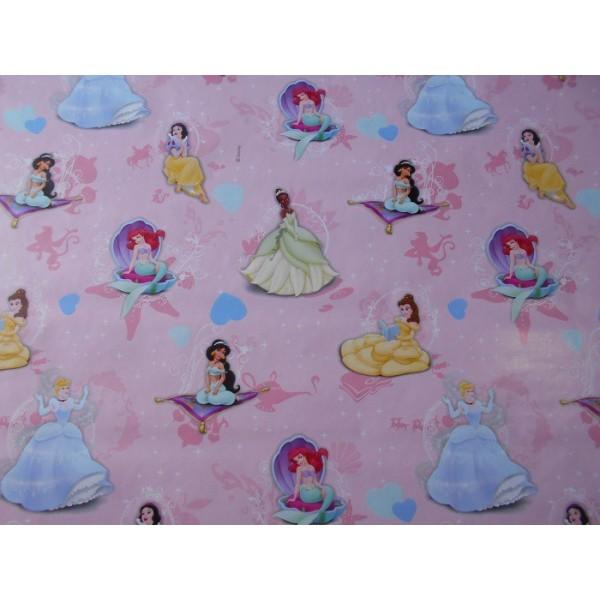 Papier Cadeau Les princesses Rose Clair