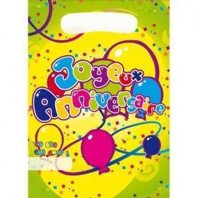 8 sacs de fête Anniversaire pour les petits cadeaux