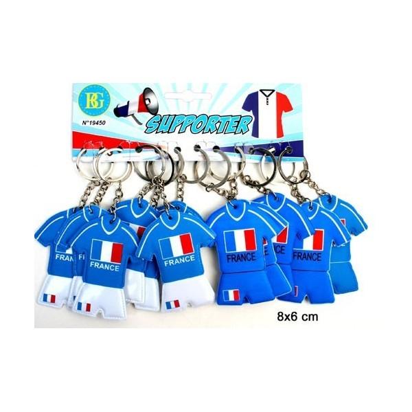 12 Porte-clés Maillots Equipe de France