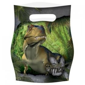 8 Sacs de fête Dinosaures pour les anniversaires