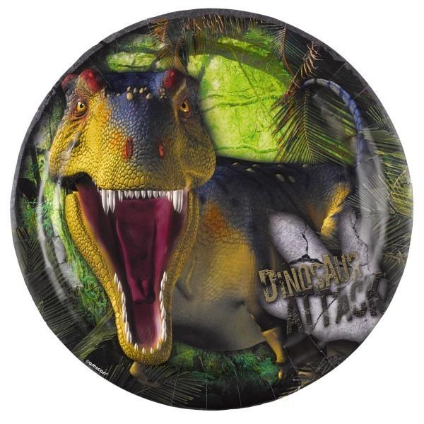 8 Assiettes Les Dinosaures