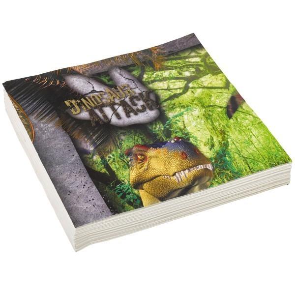 20 Serviettes Les Dinosaures