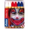 Maquillage 6 Crayons Bleu Blanc Rouge