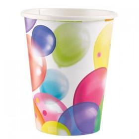 8 gobelets Anniversaire Balloon