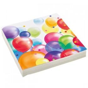 20 Serviettes Anniversaire Balloon