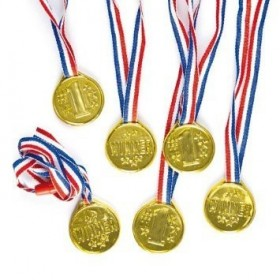 6 Médailles Or Winner pour enfant