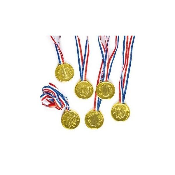 8 Médailles Or Winner pour enfant