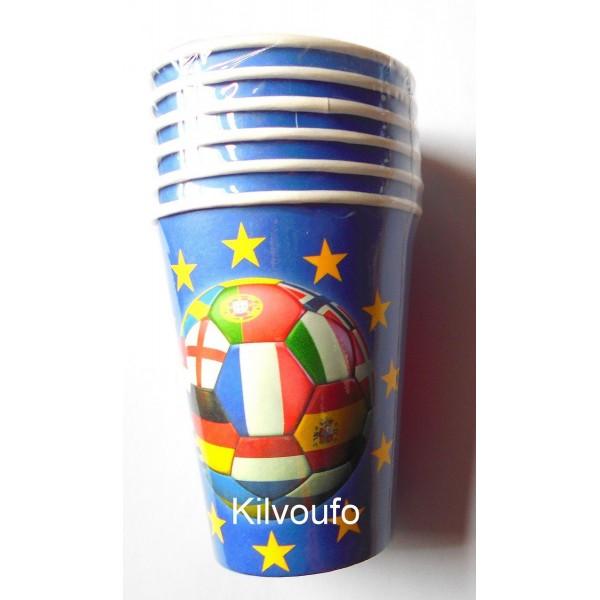 6 Gobelets Football Euro 2016