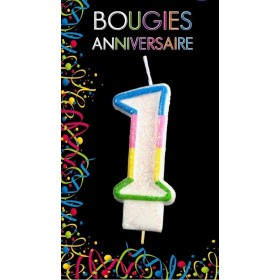 Bougie Chiffre Anniversaire 1
