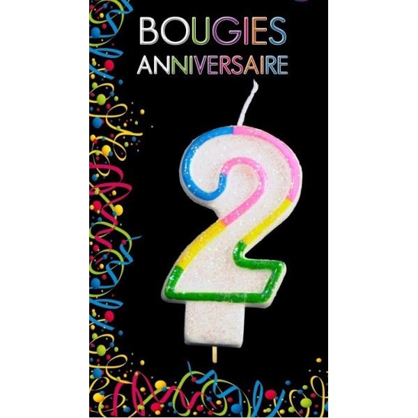Bougie Chiffre Anniversaire 2