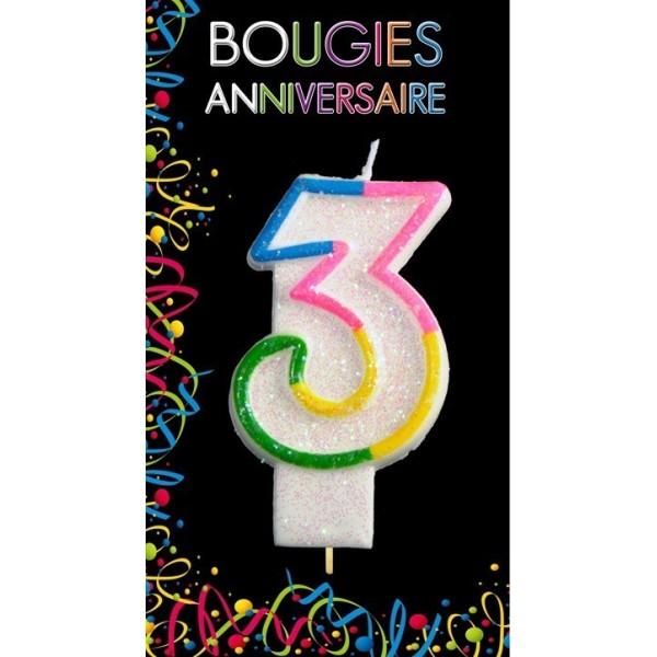 Bougie Chiffre Anniversaire 3
