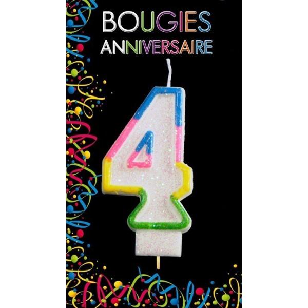 Bougie Chiffre Anniversaire 4