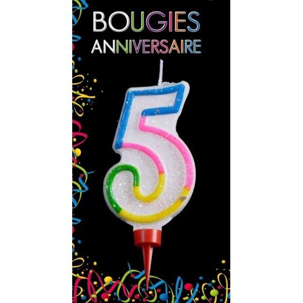 Bougie Chiffre Anniversaire 5