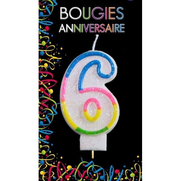 Bougie Chiffre Anniversaire 6
