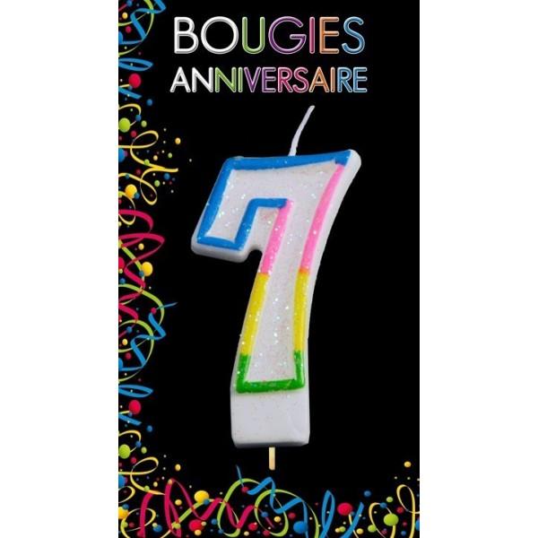 Bougie Chiffre Anniversaire 7