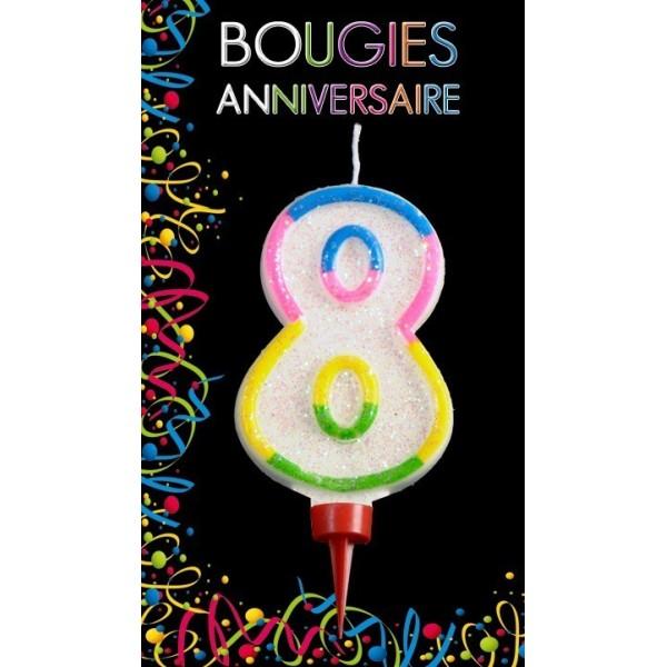 Bougie Chiffre Anniversaire 8