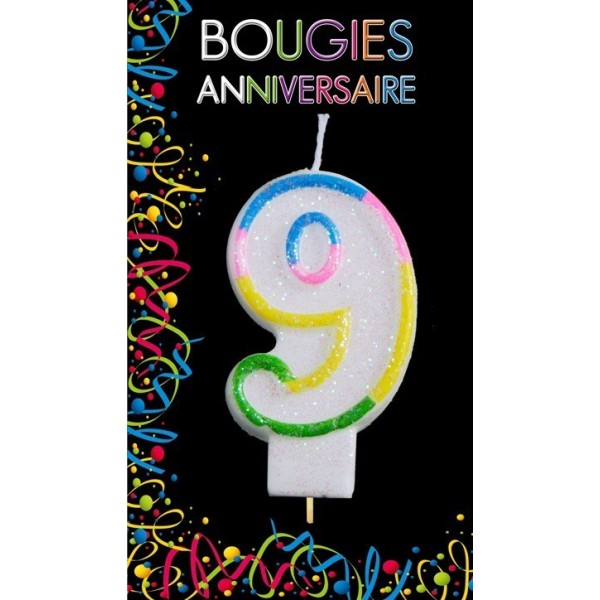 Bougie Chiffre Anniversaire 9