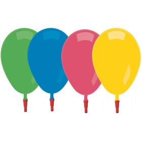 10 Ballons Unis Sifflets