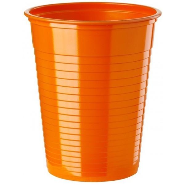 50 Gobelets plastique Orange