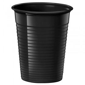 25 Gobelets Noirs, vaisselle jetable