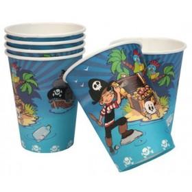 6 Gobelets Les Pirates pour le goûter des enfants