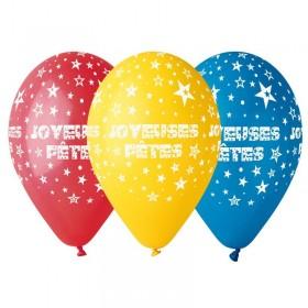 10 Ballons Joyeuses Fêtes