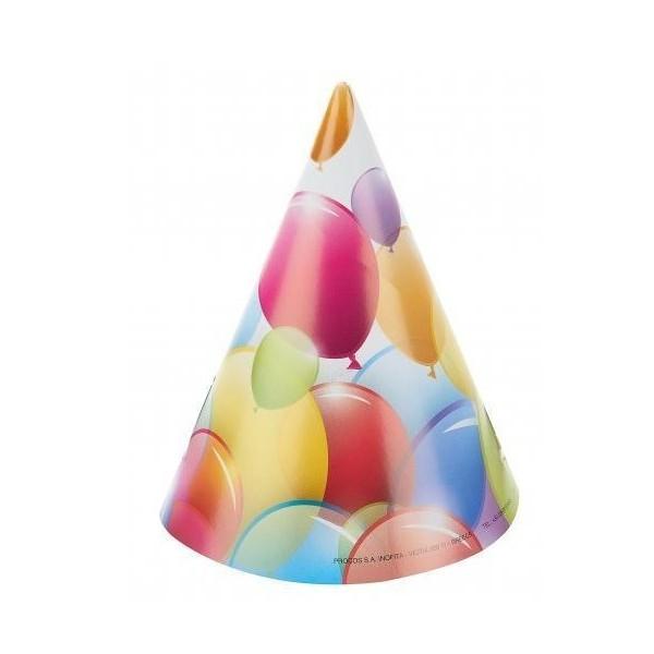 8 Chapeaux de fêtes Balloon