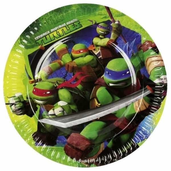 8 Assiettes Les Tortues Ninja