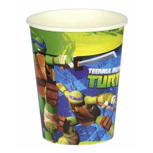 8 gobelets Les tortues Ninja