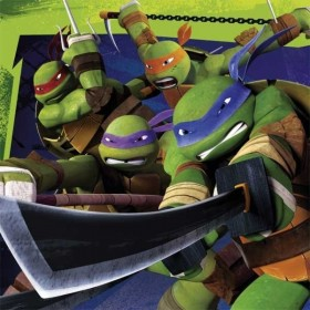 20 serviettes les tortues ninja