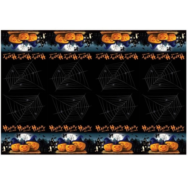 nappe plastifi e halloween vaisselle jetable pour halloween. Black Bedroom Furniture Sets. Home Design Ideas