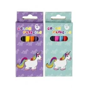 Boîte de 6 crayons de couleurs Licorne