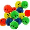 Mini balle colorée rebondissante sourire