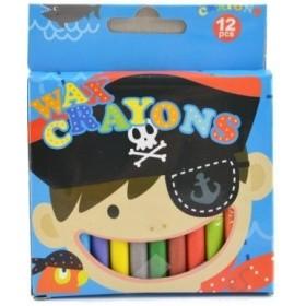 12 crayons de cire avec décor pirates