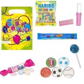 Sachet garni avec bonbons et jeu de patience sport