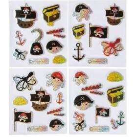 planche de stickers pirates