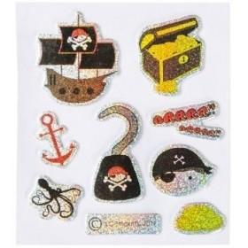 Planche de Stickers motifs pirates.