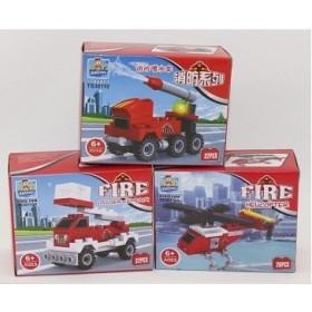 Boîte de construction Véhicule de pompier
